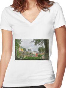 Portmeirion Women's Fitted V-Neck T-Shirt