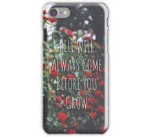 Roots Lyrics iPhone Case/Skin
