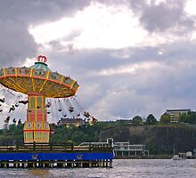 Merry Go Round By Lake by sceneryphotosto