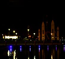 Cunningham Pier at night - Geelong by Deb Gibbons