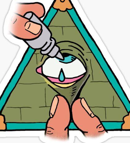 Illuminati are Baked Sticker