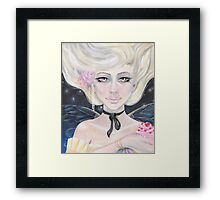 Marie Antoinette and the cherry topped cupcake Framed Print