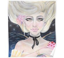 Marie Antoinette and the cherry topped cupcake Poster
