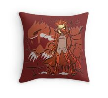 Groudon | Kawaii Fan-Art Throw Pillow
