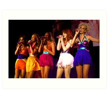 Girls aloud live in Bournemouth 2008 Art Print