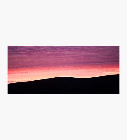 Purple Haze - Baylys Beach sunrise - NZ  Photographic Print