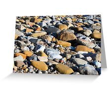 Northumberland Beach Pebbles Greeting Card