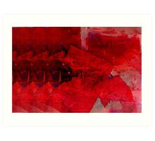Red Abstract Painting Art Print