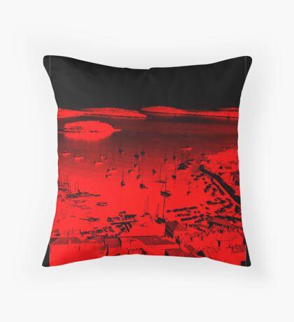 Hvar Harbour Throw Pillow