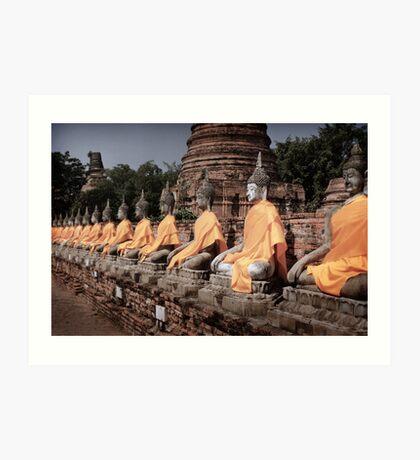 Buddha Row Art Print