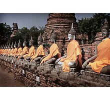 Buddha Row Photographic Print