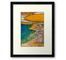 Yellowstone Mineral Hot springs Framed Print