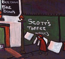 Scotts toffee works by sword