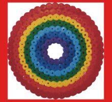 Rainbow Circle Hama Beads One Piece - Short Sleeve