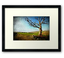 Countryside landscape (Textured Version) Framed Print