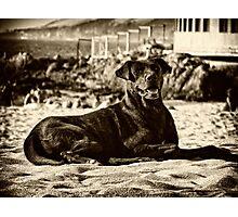 En la playa Photographic Print