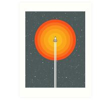 Cruising Past The Sun Art Print