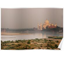Taj Mahal from Agra Fort Poster