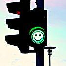 Smiley Green Light by Ritva Ikonen