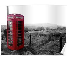 Phone box in Wales Poster