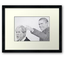 change of command  Framed Print