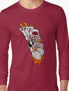 Born Lucky (large) Long Sleeve T-Shirt