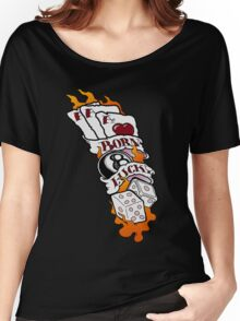 Born Lucky (large) Women's Relaxed Fit T-Shirt