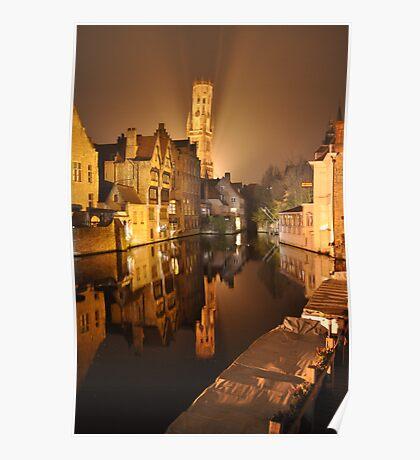 Bruges Reflection Poster