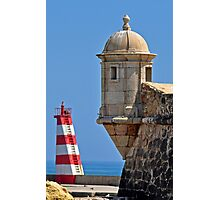 Fort and Lighthouse Photographic Print
