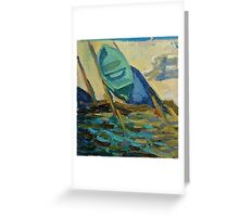 sun boat Greeting Card