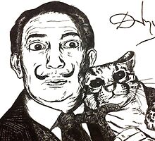 Salvador Dali & Ocelot Tribute by angryswan