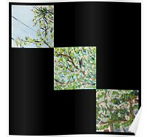 False Spring Triptych Print Poster