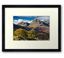 The Langdale valley Framed Print