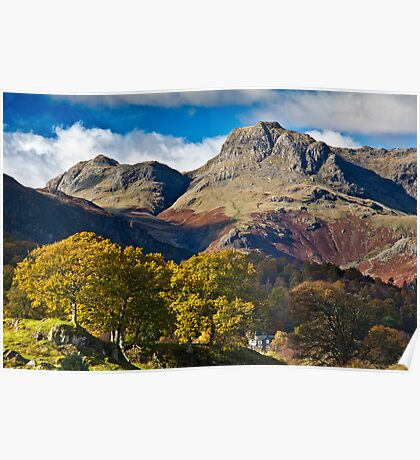 The Langdale valley Poster