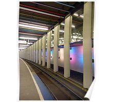 Edge of the platform - Metro at Rotterdam Poster