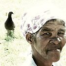 Old woman and pigeon by iamelmana