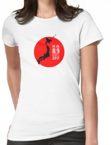 Japan Earthquake Womens Fitted T-Shirt