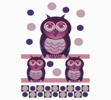 Owl family with polka dots Kids Clothes