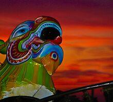 Dragon Sunset by BodilyCharms