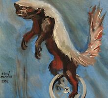 Honey Badger on a Unicycle by Ellen Marcus