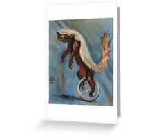 Honey Badger on a Unicycle Greeting Card