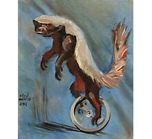Honey Badger on a Unicycle Photographic Print