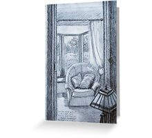 View into Sitting Room Greeting Card