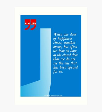 The Door Of Happiness (Helen Keller Quote) Art Print
