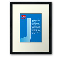 The Door Of Happiness (Helen Keller Quote) Framed Print
