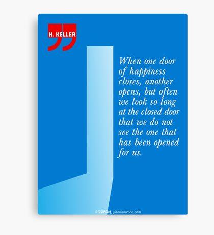 The Door Of Happiness (Helen Keller Quote) Canvas Print