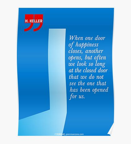 The Door Of Happiness (Helen Keller Quote) Poster