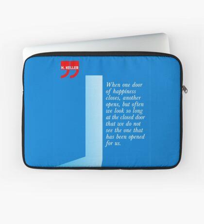 The Door Of Happiness (Helen Keller Quote) Laptop Sleeve