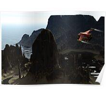 Coastal Expedition - Blue Rock Poster