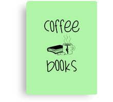 Coffee & Books Canvas Print